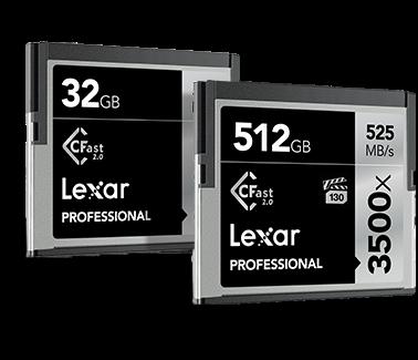 Lexar ®Professional 3500x CFast™ 2.0 CF Card | 64GB - 512GB