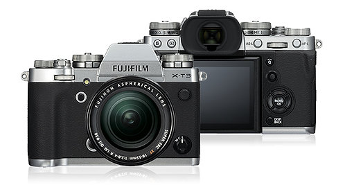 FUJIFILM X-T3 Digital Mirrorless Camera - Black / Silver