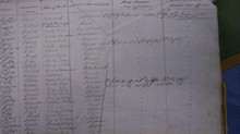 A page from the 1/27th's roster showing some of the casualties from Waterloo