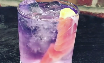 Color changing Empress Gin & Tonic with grapefruit