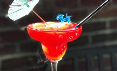 Rotating Slushy: Tequila, lime, blackberry, orange