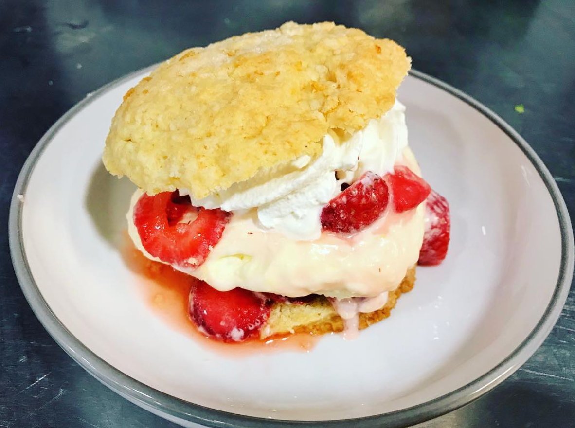 Strawberry Shortcake with lemon cream