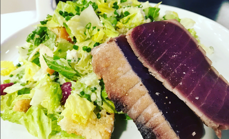 Caeser Salad with added tuna