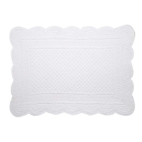 individual  quilted white