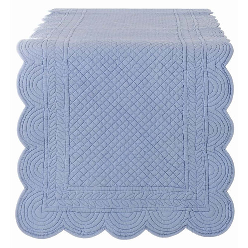 runner quilted bleu