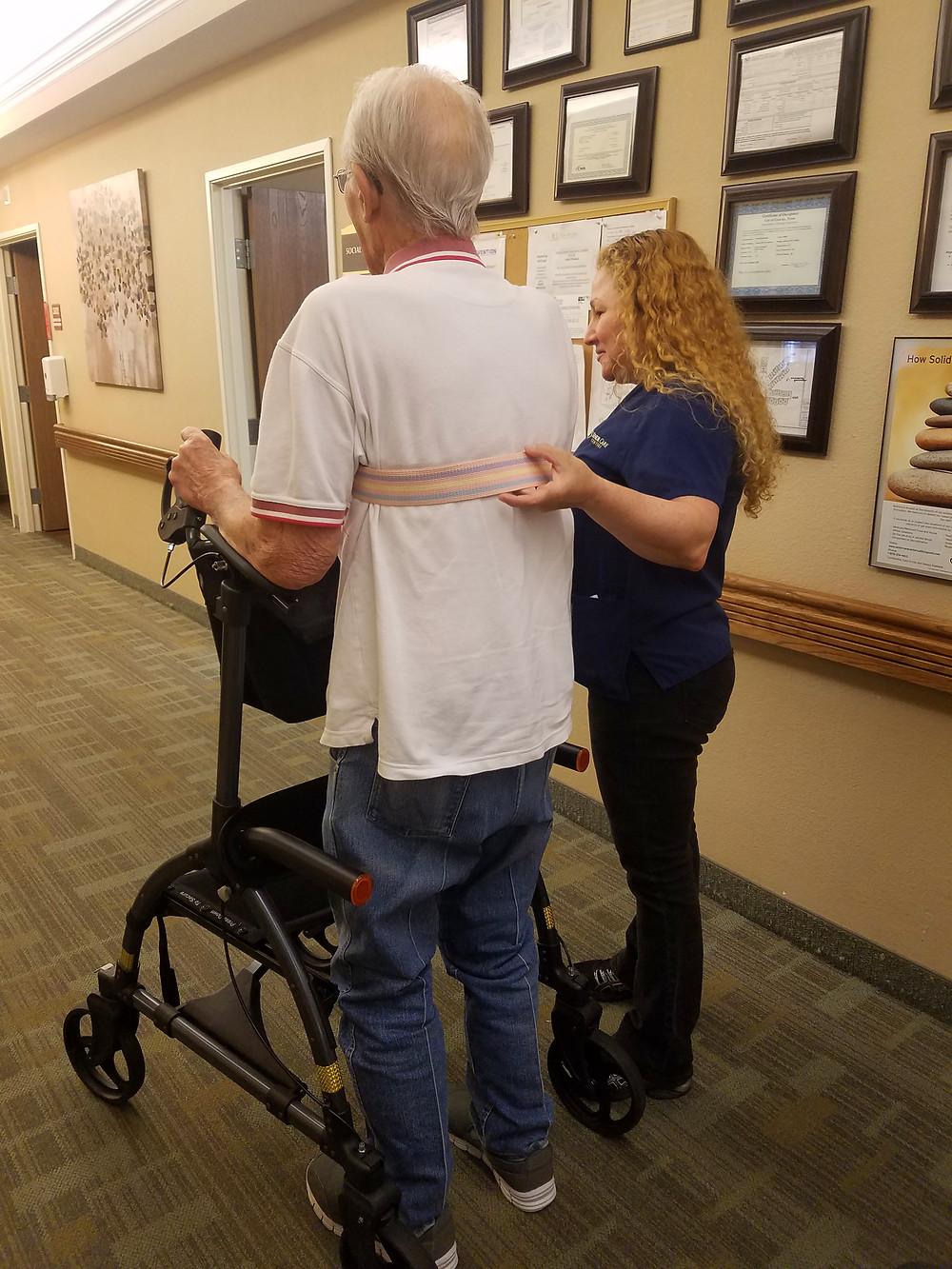 Senior Rehab Solutions Works with Senior Residents using the UPWalker.