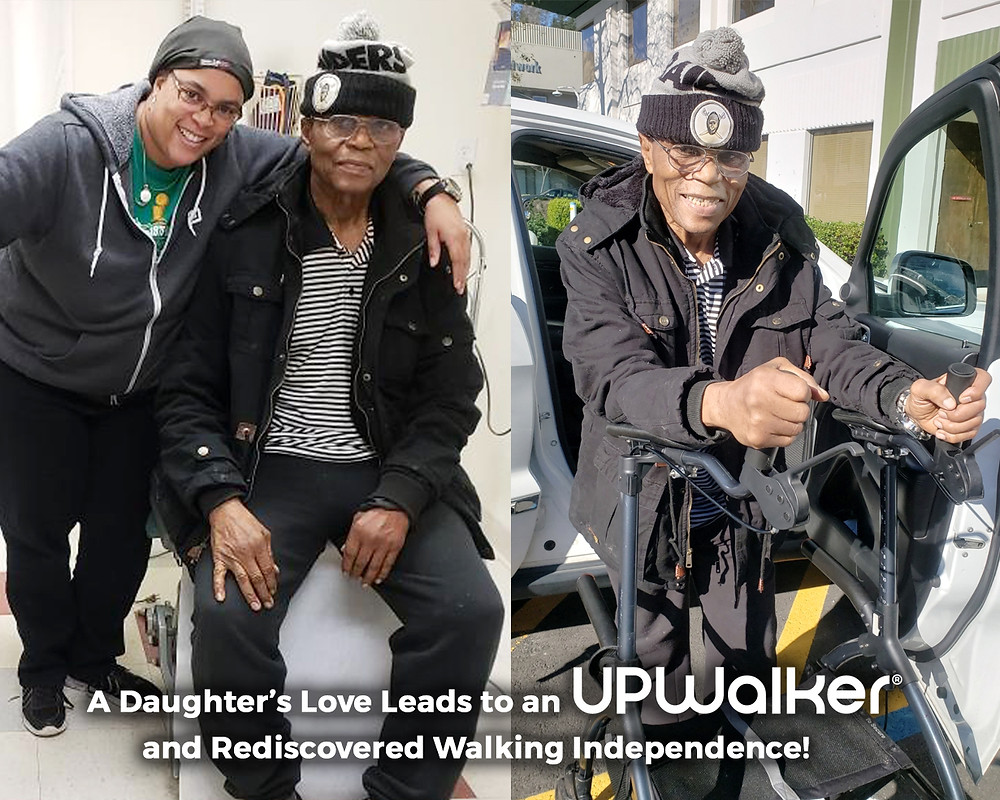 Dina's Dad suffered with walking challenges, until she bought him an UPWalker!
