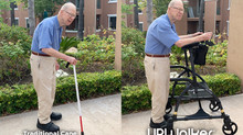 UPWalker Customer Success Story: From Bent-over in Pain with a Cane to Upright and Enjoying Walking