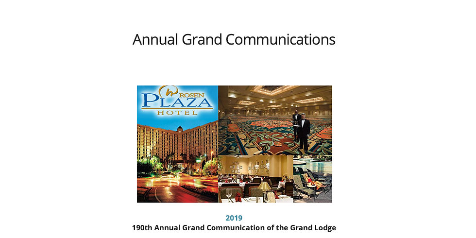 190th Annual Grand Communication