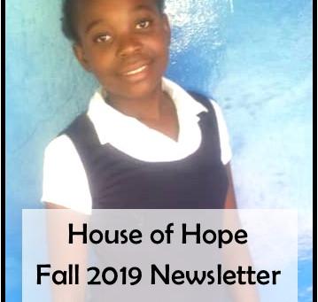 House of Hope Fall 2019 Newsletter