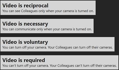 Convenient video modes