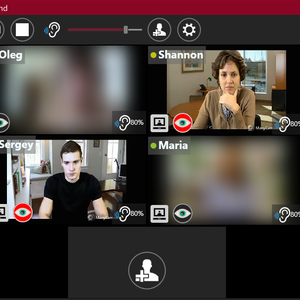 Privacy-protected continuous team video connection