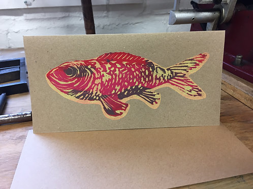 Big Red Fish (On Brown Card)