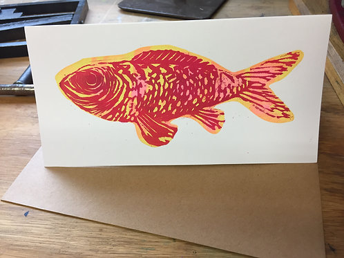 Big Red Fish (on White card)