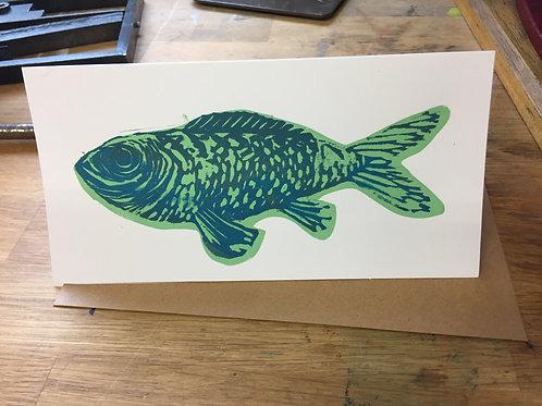 Big Blue Fish (on White card)