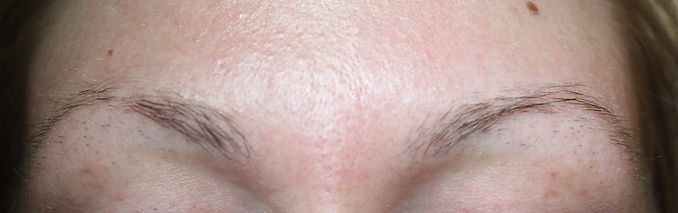 Client #16 - Before Permanent Makeup Eyebrows
