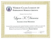 World Class League Of Permanent Makeup Artists - Lynn Duncan