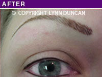 Client #2 - After Alopecia Permanent Eyebrow Makeup