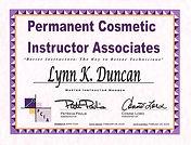 Permanent Costmetic Instructor - Lynn Duncan