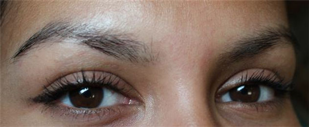 Client #1 - Before Permanent Makeup Eyebrows