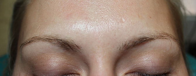 Client #15 - Before Permanent Makeup Eyebrows