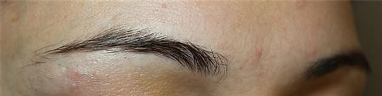 Client #22 - Before Permanent Makeup Eyebrows