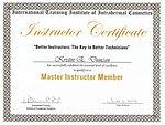 Certificate ofMaster Instructor, Int'nl Training Institute of Transdermal Cosmetics- Kristin Duncan