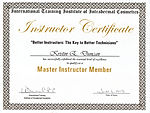 Certificate of Master Instructor, Int'nl Training Institute of Transdermal Cosmetics - Kristin Duncan
