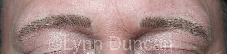 Client #2 - After Men's Permanent Makeup Eyebrows