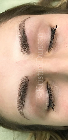 Client #1 - After Eyebrow Microblading
