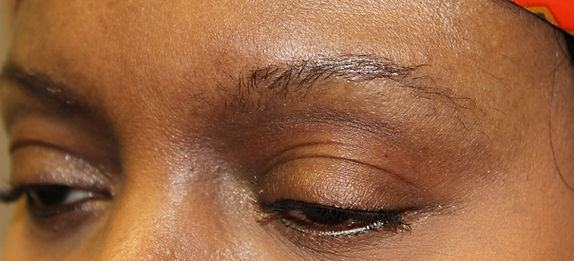 Client #5 - Before Permanent Makeup Eyebrows #2