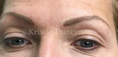 After Microblading Brows