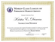 World Class League of Permanent Cosmetics Professionals Instructor Member- Kristin Duncan