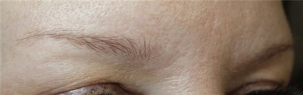 Client #19 - Before Permanent Makeup Eyebrows #2
