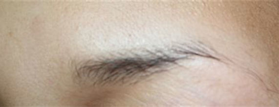 Client #18 - Before Permanent Makeup Eyebrows #2