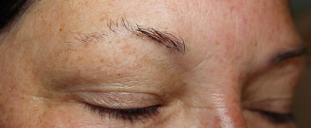 Client #12 - Before Permanent Makeup Eyebrows