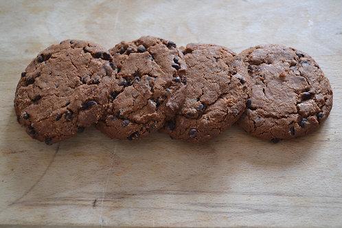 cookie tout chocolat bio en vrac zéro déchet biscuiterie bio pain de belledonne bio sucre équitable