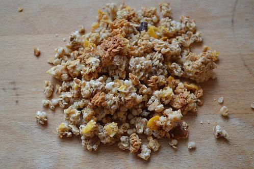 muesli croustillant façon granola bio en vrac zéro déchet avec noix de pécan bio miel bio petit déjeuner bio
