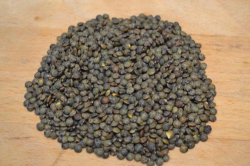 lentilles vertes bio en vrac zéro déchet origine france légumineuse bio épicerie salée bio lentille bio
