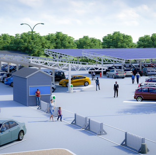 Parking Lot Solar Canopy Installation Design