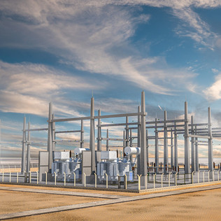 Electrical Substation 3D Design and Rendering