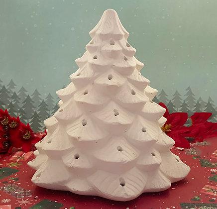 Large Vintage Christmas tree Ceramic Painting kit, DIY, Luminaria