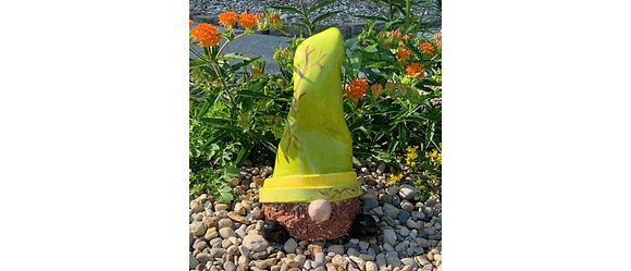 Large Garden Gnome -Green/branches