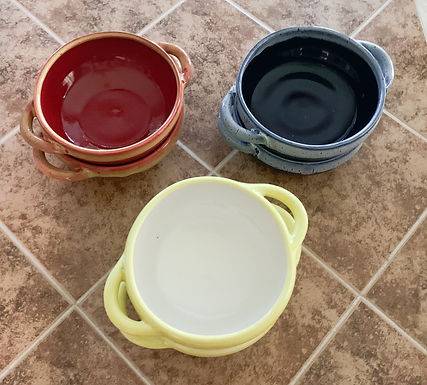 Hand Thrown Soup Bowls - sets of 2