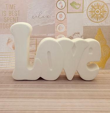 """Love""  Ceramic Take N Make Kit, Artist Gift"
