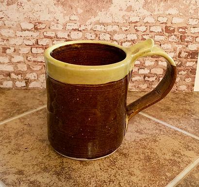 Hand Made Stoneware Mug-Amber/Yellow