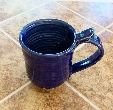Wheel Thrown Stoneware Mug - Cobalt Blue
