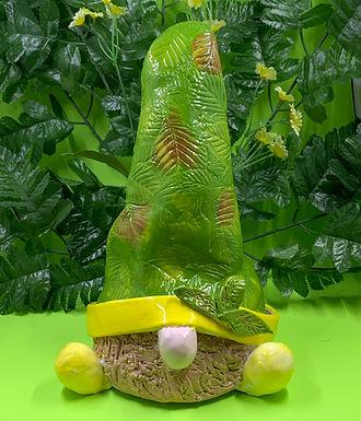 Terragon the Garden Gnome, Medium Gnome, Nature Leaves, Adopt a Gnome