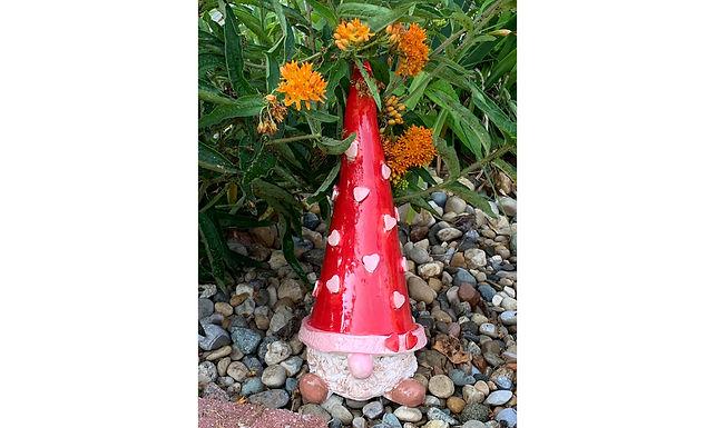 Small Garden Gnome-Red/Hearts