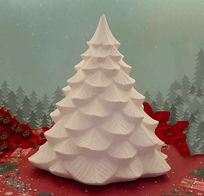 Large Vintage Christmas tree Ceramic Painting kit, DIY, Christmas gift